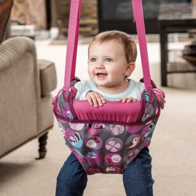 47119e1e1 Evenflo Exersaucer Doorway Jumper  Pink Bumbly - (Baby Bouncers ...