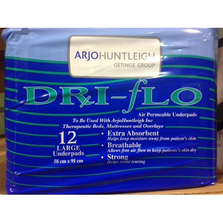 Arjohuntleigh (KC-072) Prevail Dri-Flo Air Permeable Underpads (23x36) - Case of 72