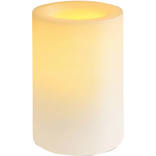 Inglow Outdoor Flameless Candle with Timer, White