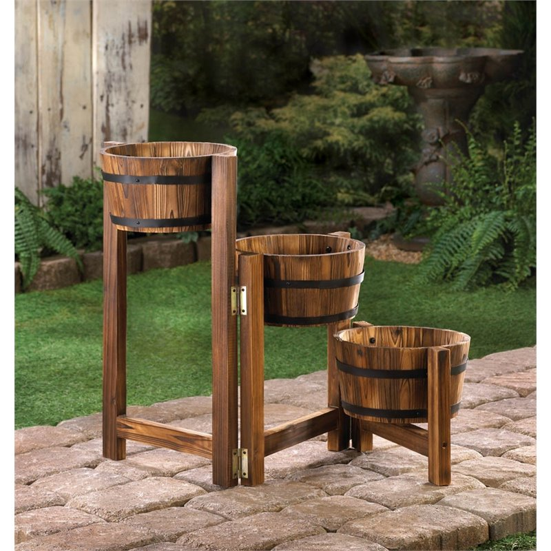 Zingz and Thingz 3 Tier Apple Barrel Planter by Overstock