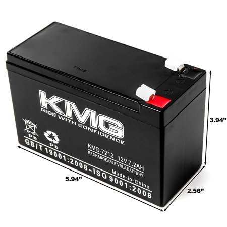 KMG 12 Volts 7.2Ah Replacement Battery for Ferno-Ille 1600 - image 2 of 3