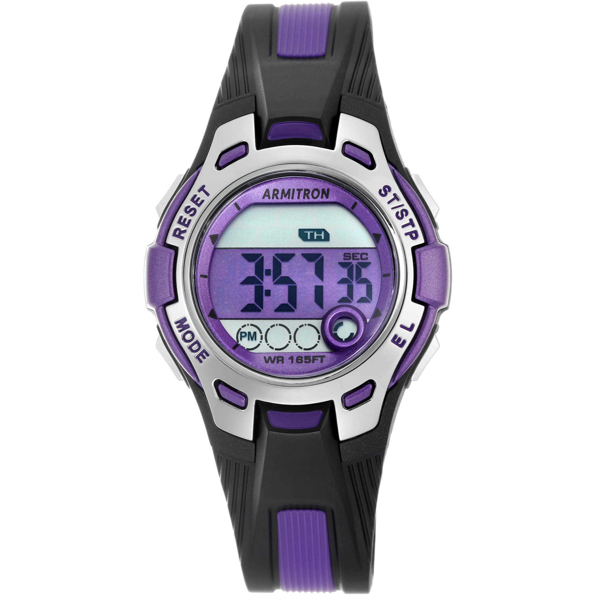 Armitron Women's Round Sport Watch, Purple