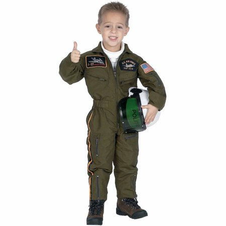 Air Force with Helmet Child Halloween Costume - Astronaut Costume With Helmet