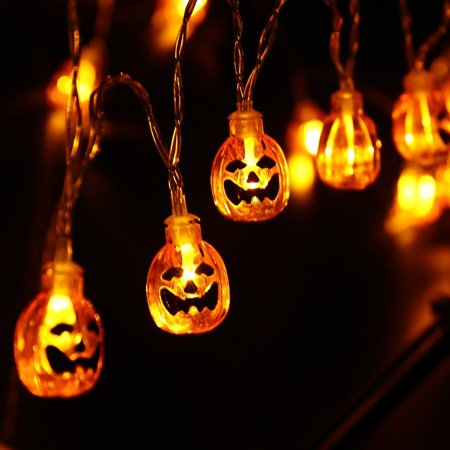 Qedertek 20 LED 3D Skeleton Skull Ghost Halloween Pumpkin Outdoor Indoor Lighting String Light Lamp for Halloween Christmas Masquerade Carnival Themed Party Decor - Halloween Opening Theme 1978