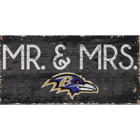 Baltimore Ravens 6'' x 12'' Mr. & Mrs. Sign - No (Baltimore Ravens Sign)