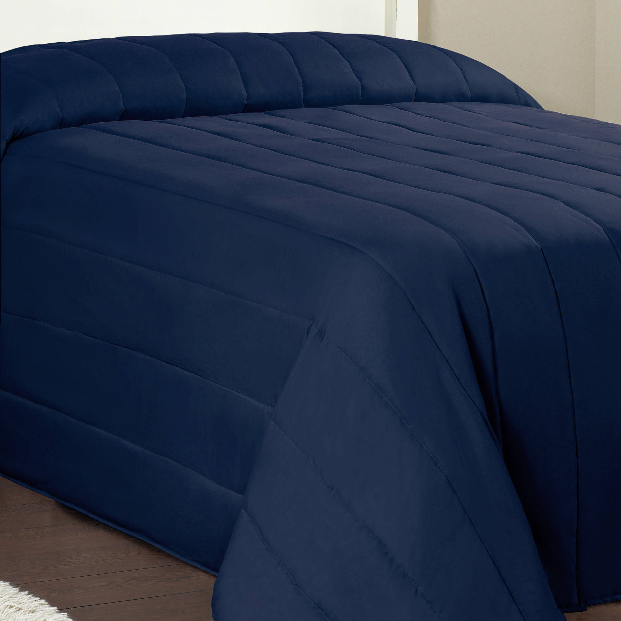 Mainstays Solid Channel Quilted Bedspread Collection   Walmart.com