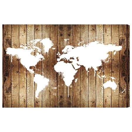 Runway Avenue Mapamundi Wood World Wall Art Map Continents With