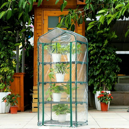 "4 Tier Greenhouse W/Clean Cover Winter Garden Plants Warm House - 27"" x 19"" x 63"" - image 5 of 6"