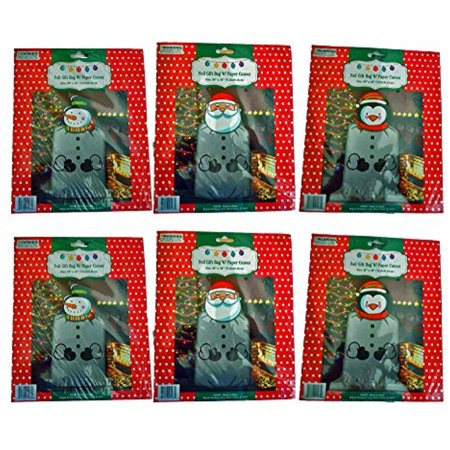 - Set of 6 Foil Gift Bag Jumbo/Giant 28