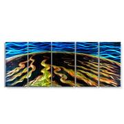 Metal Artscape MA10110 59 X 24 in. Magma Flow 5-Paneled Handmade Metal Wall Art
