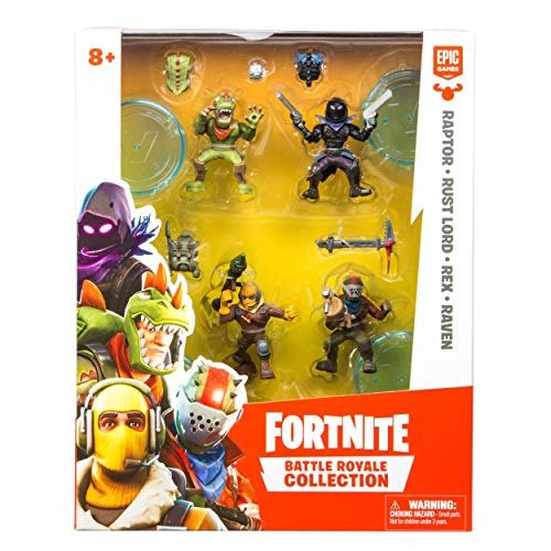 New Rapter Style Fortnite Fortnite Battle Royale Collection Squad Pack Raptor Rust Lord Rex Raven Mini Action Figures Walmart Com Walmart Com