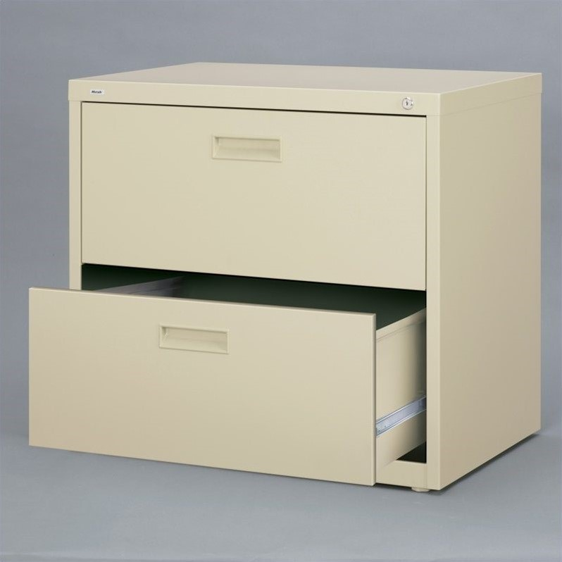 HL1000 Series 30-inch Wide 2-Drawer Lateral File Cabinet, Putty