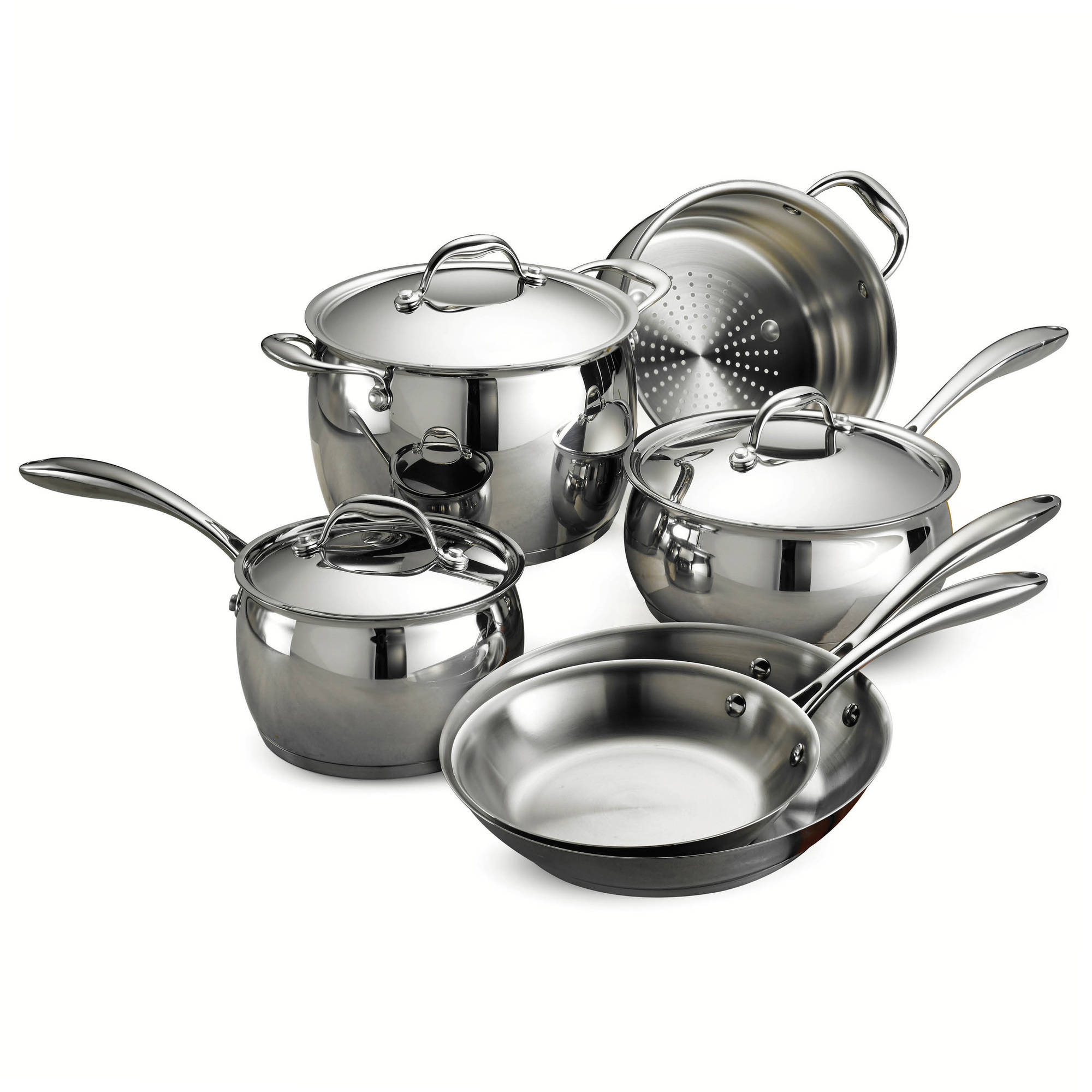 Tramontina Gourmet Domus Stainless Steel 9-Piece Cookware Set by Tramontina USA Inc.