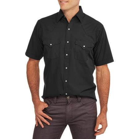Plains big tall mens short sleeve western shirt for Mens tall western shirts