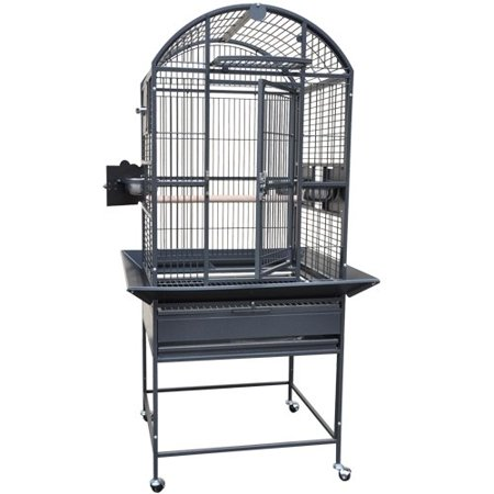Kings Cages 9002422 Dome Top Bird Cage. (Gray/Silver.)