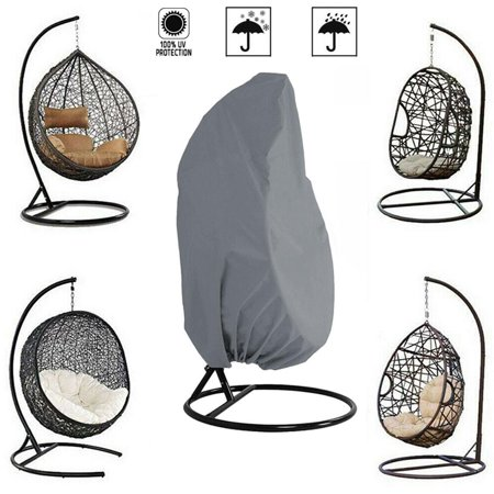 Outdoor Patio Hanging Chair Cover Hanging Egg Swing Chair Cover for Single Swinging Egg Chair, Pod Chair, Swingasan Chair- Heavy Duty Water Resistant, 75