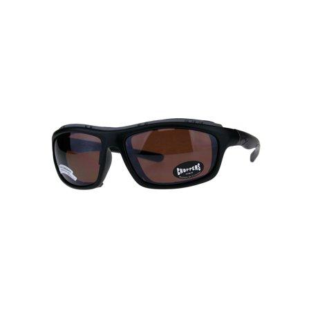 33fbee79ba Choppers Windbreaker Foam Pad Motorcycle Riding Goggle Sunglasses Black  Brown - Walmart.com