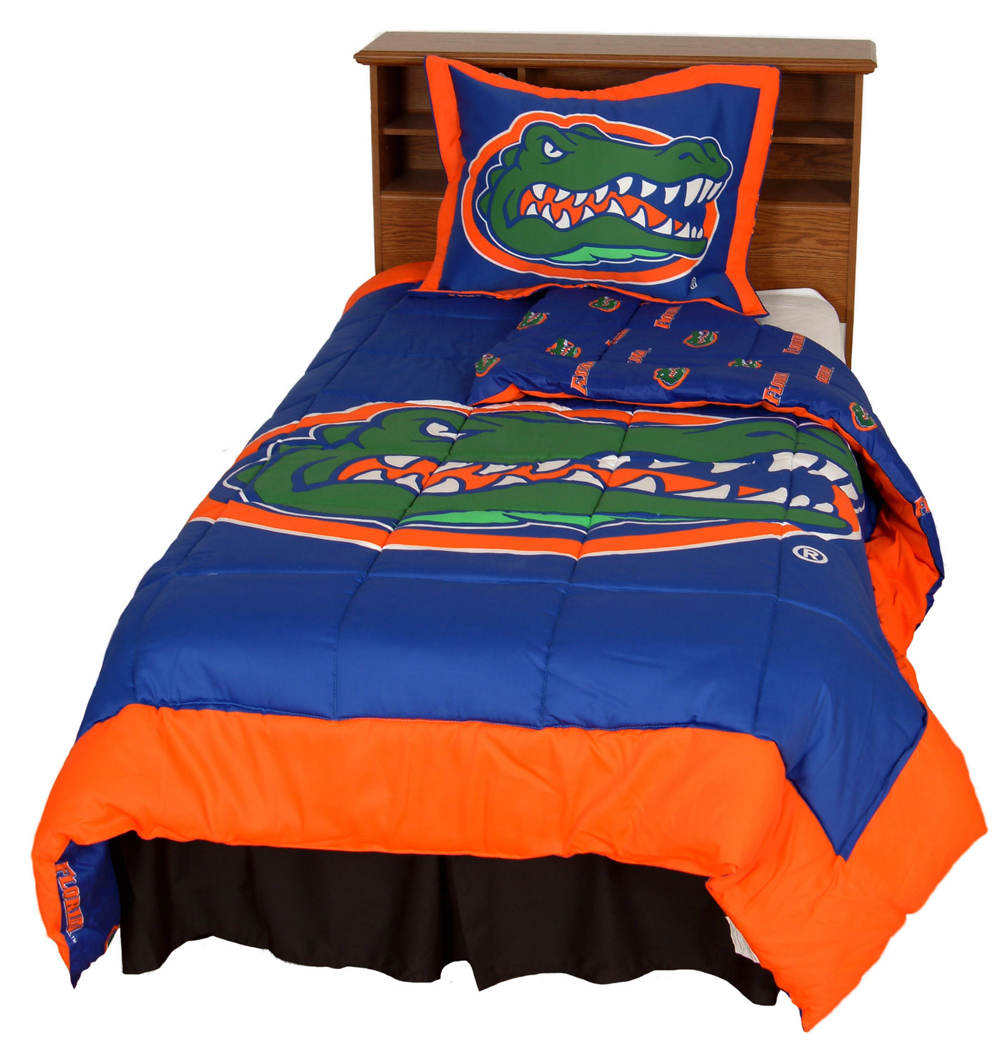 Florida Gators 2 Pc Comforter Set, 1 Comforter, 1 Sham, Twin
