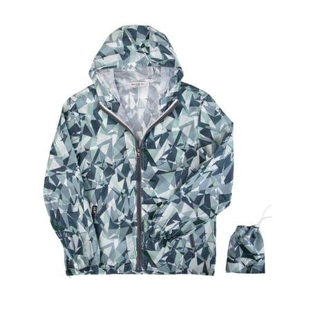 SAYFUT Ultra Lightweight Packable Jackets Waterproof Windbreaker Hooded Raincoat Jacket Yoga Running Fitness Outdoor Sports Coat