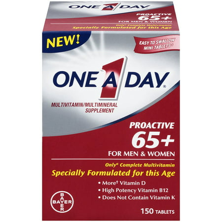 One A Day Proactive 65 plus multivitamines, 150 comte, bateau des Etats-Unis, Marque One-A-Day