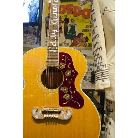 USA, Tennessee, Nashville. Western singer Eddy Arnold's guitar. Print Wall Art By Cindy Miller Hopkins