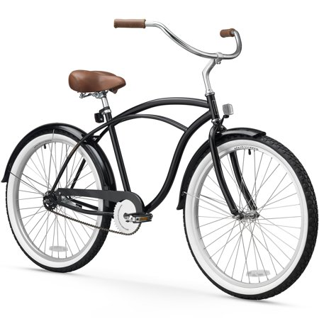 26 sixthreezero men 39 s be single speed beach cruiser bicycle black. Black Bedroom Furniture Sets. Home Design Ideas