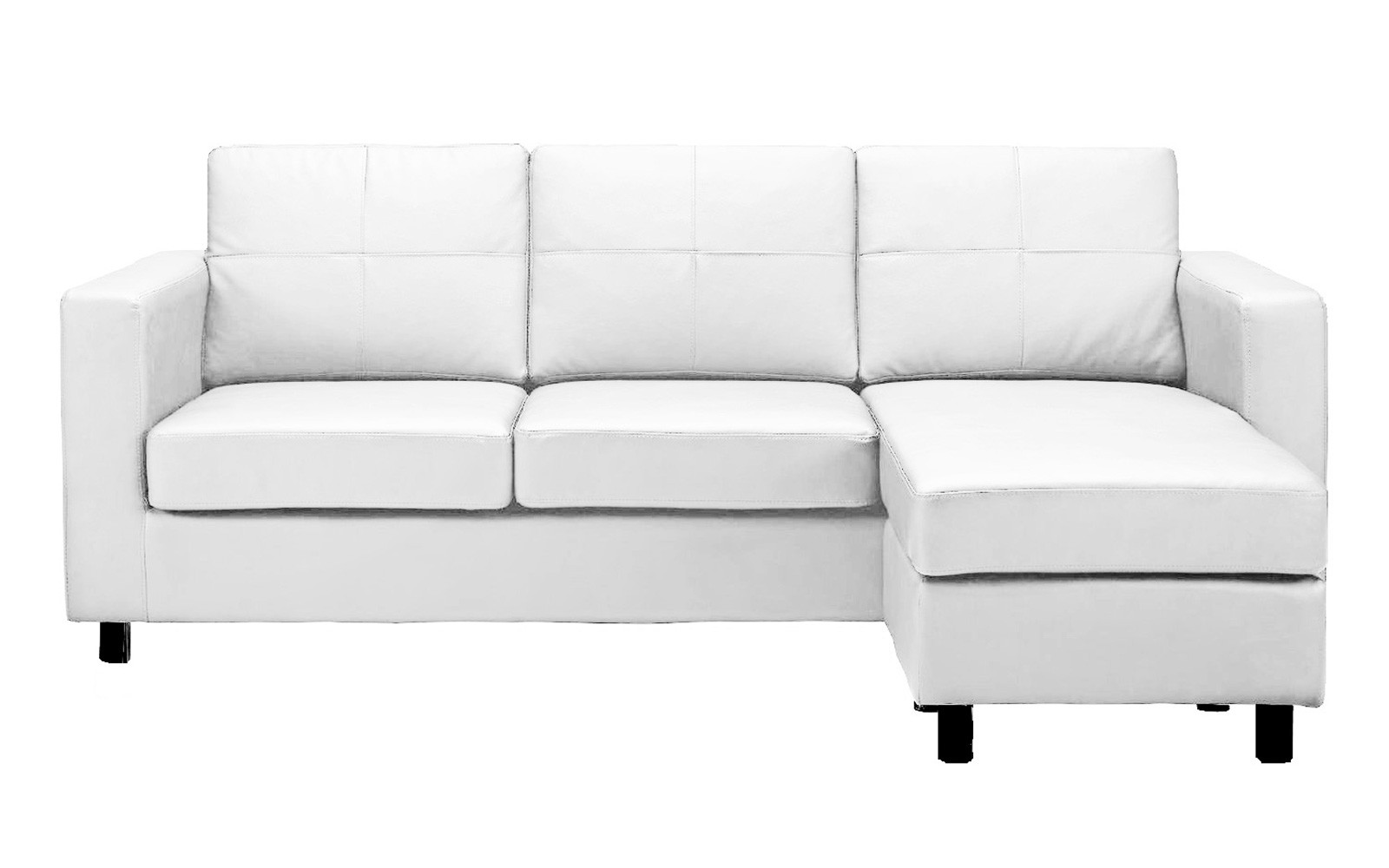 Modern Reversible Small Space Configurable Bonded Leather Sectional Sofa -  Walmart