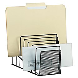Brenton Studio™ Metro Mesh Wire Step File, Black