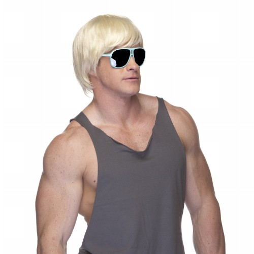 Characters Surfer Dude Synthetic Wig - Blonde