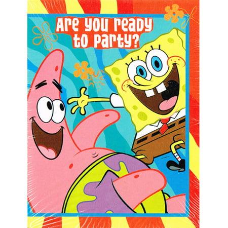 SpongeBob SquarePants 'Buddies' Invitations and Thank You Notes w/ Env. (8ct) - Customized Spongebob Invitations
