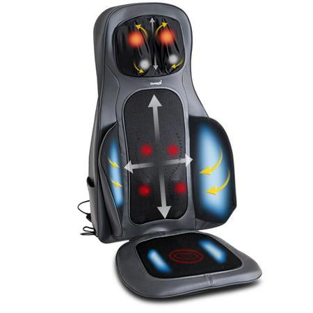 Motor Heated Massage Mat - Gymax Shiatsu Neck & Back Massage Cushion Air Compression Heated Massager Chair Seat