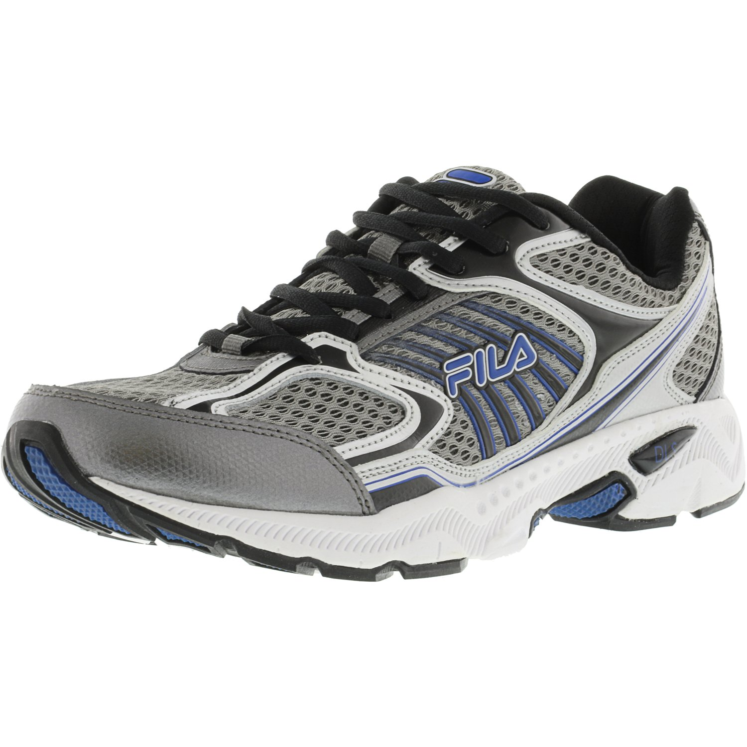 Fila Men's Memory Inspell Dark Silver / Black Prince Blue Ankle-High Running Shoe - 11.5M