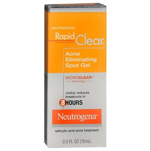 Neutrogena Rapid Clear Acne Eliminating Spot Gel 0.50 oz (Pack of 6)