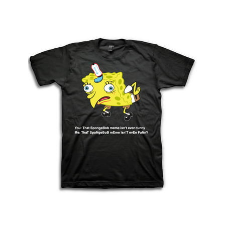 Movies & Tv Spongebob derp meme men's graphic tee up to size 3xl](Personalized Spongebob Birthday Shirts)