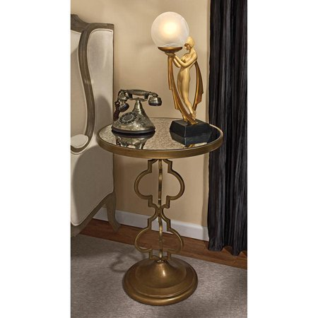 BACALL ART DECO MIRRORED ACCENT TABLE](Art Deco Table)