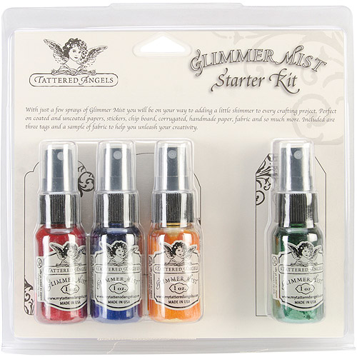 Tattered Angels Glimmer Mist Kit, 1-Ounce, Primary Multi-Colored