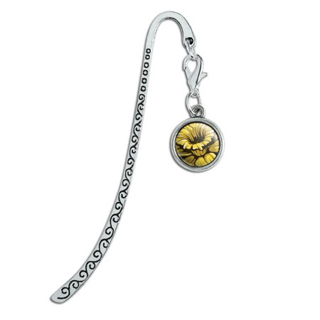 Daffodil Metal Bookmark Page Marker with Charm