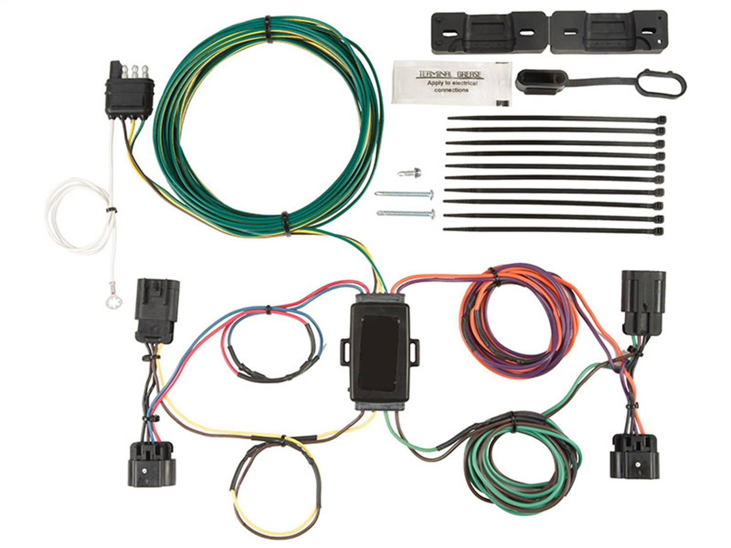 ox bx88276 ez light wiring harness kit trailer wire installation kitblue ox electronics walmart com rh walmart com