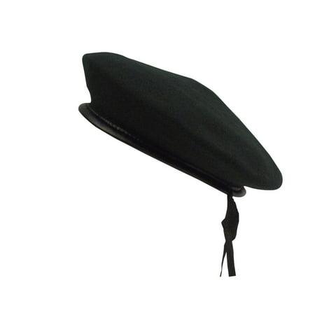 Black Wool Beret  New Military Style Hat  Cap