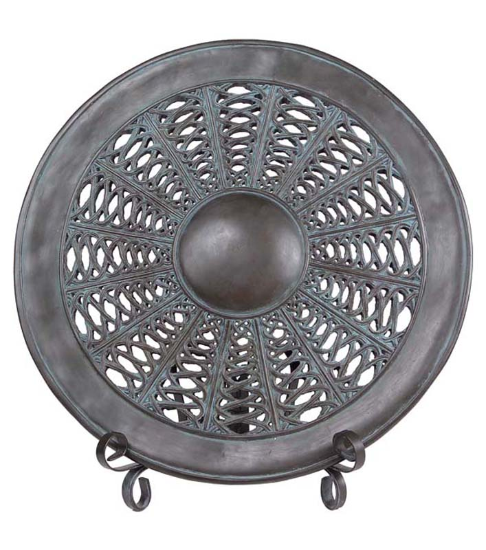 21\  Middle Eastern Inspired Brown Charger Plate with Display Stand  sc 1 st  Walmart.com & 21\