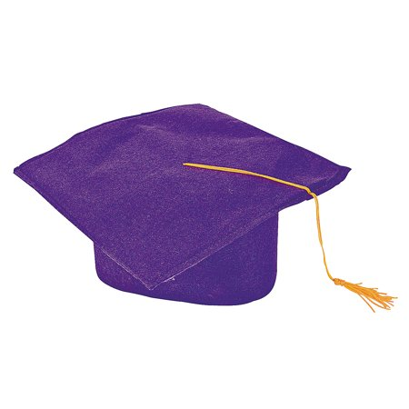 Fun Express - Purple Felt Graduation Caps for Graduation - Apparel Accessories - Hats - Graduation Hats - Graduation - 12