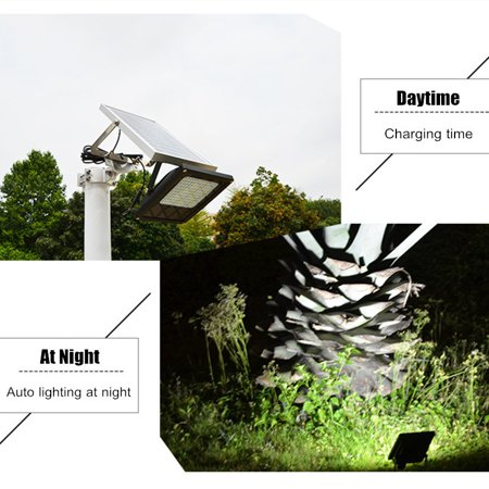 5IN1 120LEDs Solar Powered Flood Light Sensor Outdoor Garden Security Lamp  Street Lighting Lamp, Suitable for pathway, Lawn Landscape, garden or
