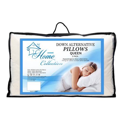 Sweet Home Collection Premier Comfort Microfiber Down Alternative Pillow (Set of 2)