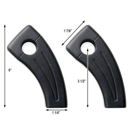 """3.5"""" Black Bike Handlebar Pullback Risers 7/8"""" For Kawasaki Ninja ZX-6R ZX 6RR ZX600 600R - image 1 de 4"""