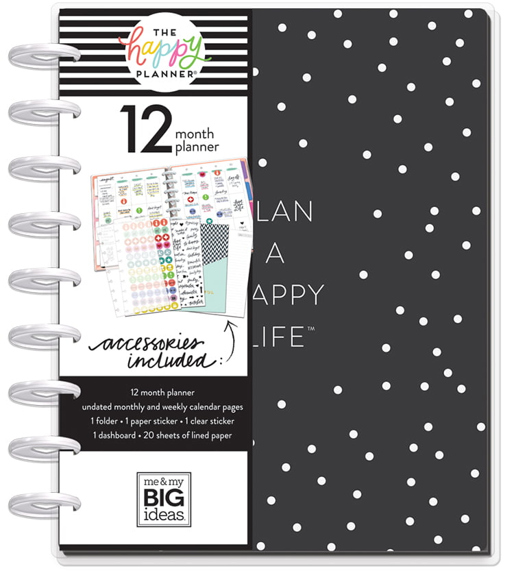 The Happy Planner - Classic Undated 12 Month Planner Happy Life