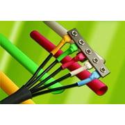Alpha Wire Fit-300-1/8 Heat Shrink Tubing, Blk, 4ft Lengths - FIT300-1/8-4-BLACK