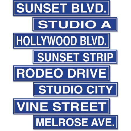 Hollywood Sign Cutouts Party Accessory (1 count) (4/Pkg), Each package includes (4) cutouts By PMU