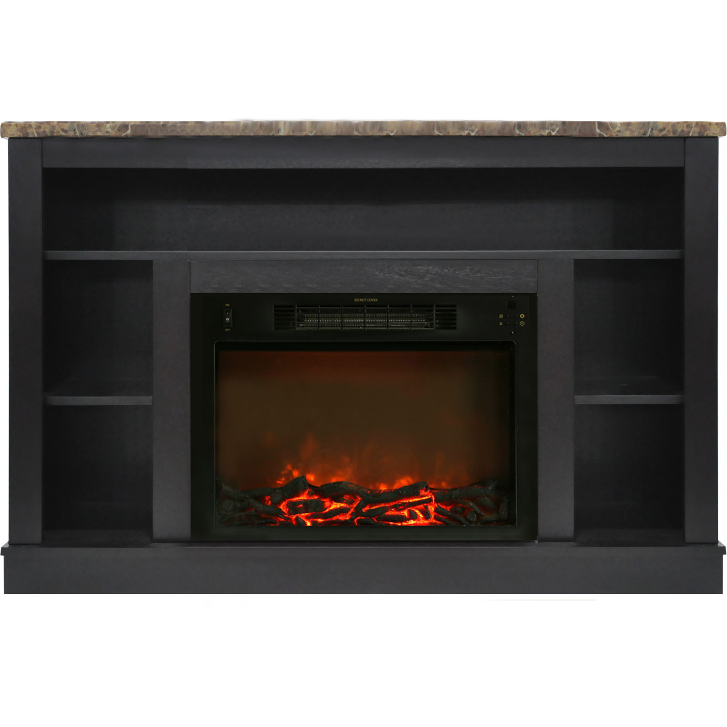 "Cambridge Seville 47"" Electric Fireplace Mantel Heater with Charred Log Display"