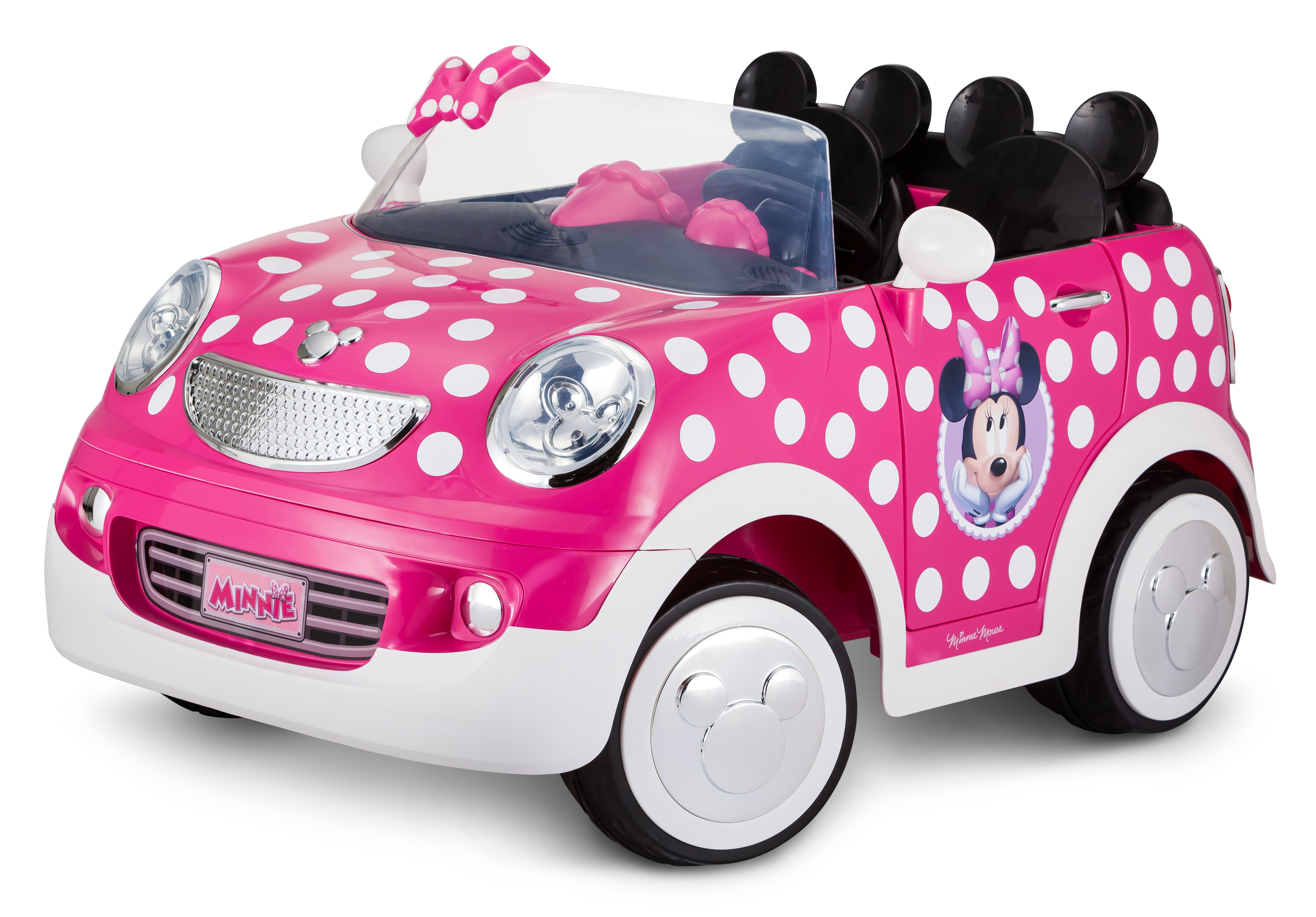 12-Volt Minnie Mouse Hot Rod Coupe Ride-On by Kid Trax, Pink White by Pacific Cycle