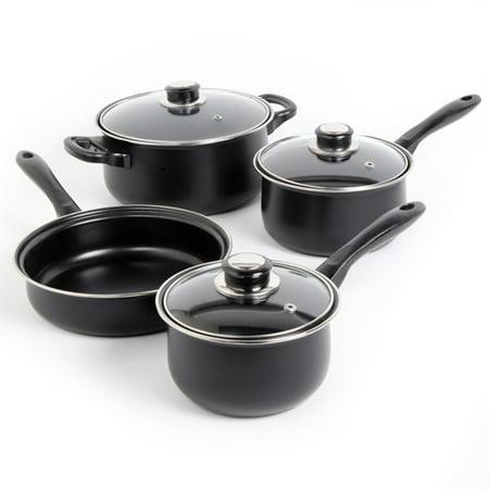 Sunbeam Newbrook 7-Piece Non-Stick Cookware Set, Black